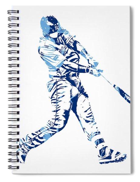 Salvador Perez Kansas City Royals Pixel Art 3 Spiral Notebook