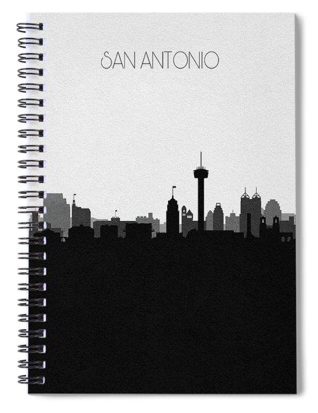 San Antonio Cityscape Art V2 Spiral Notebook