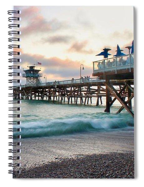 A San Clemente Pier Evening Spiral Notebook