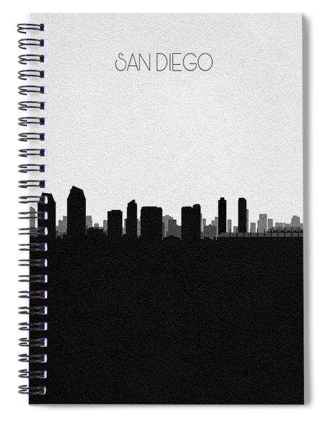 San Diego Cityscape Art Spiral Notebook