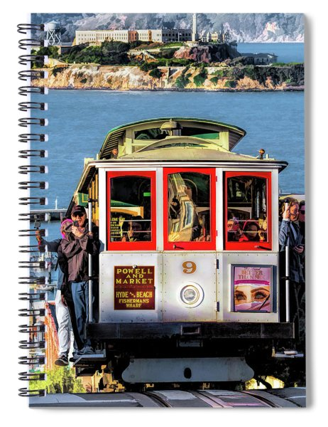 San Francisco Cable Car Spiral Notebook