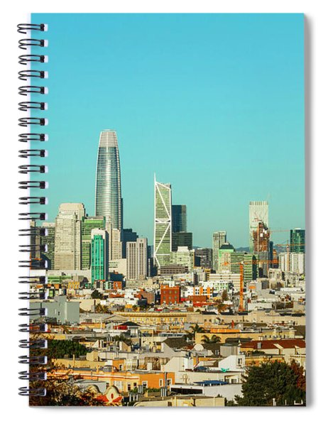 San Francisco Financial District From Dolores Park Spiral Notebook