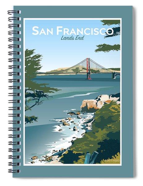 San Francisco Lands End Spiral Notebook