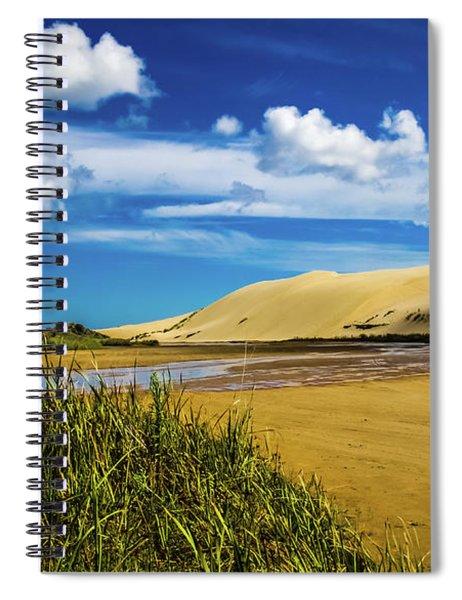 90 Miles Beach, New Zealand Spiral Notebook