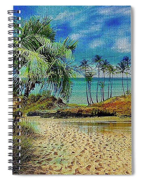 Sand To The Shore Montage Spiral Notebook
