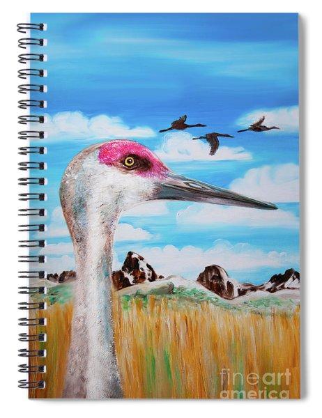 Sandhill Crane Teton View Spiral Notebook