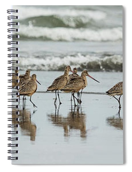 Sandpipers Piping Spiral Notebook