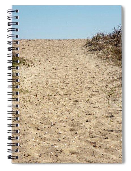 Sandy Footprints Spiral Notebook