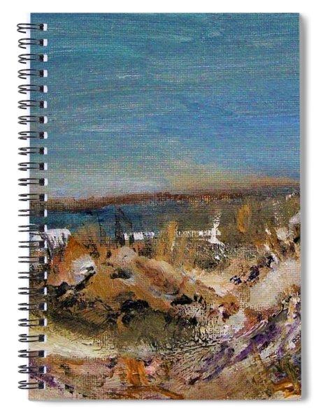 Sandy Neck Winter Scene Spiral Notebook