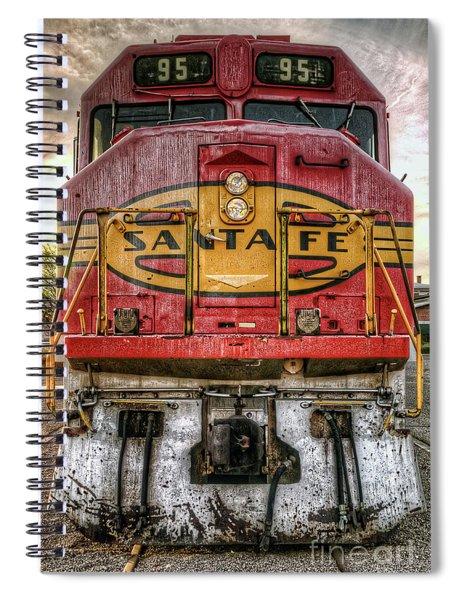 Santa Fe Train Engine Spiral Notebook