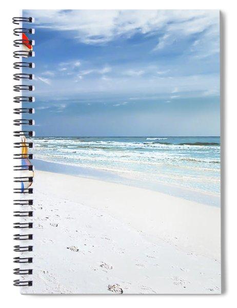 Santa Lifeguard Spiral Notebook