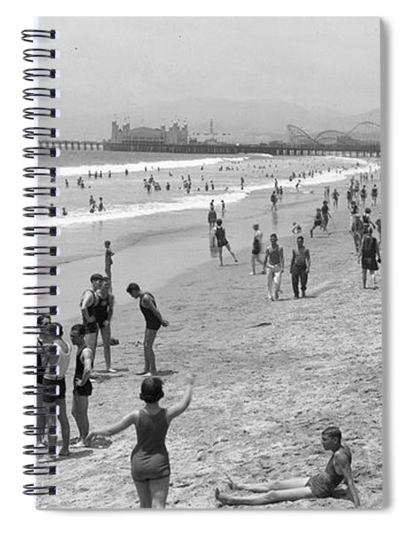 Santa Monica Beach Circa 1920 Spiral Notebook