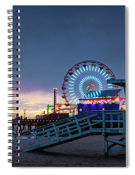 Santa Monica Lifeguard Tower 16 Spiral Notebook