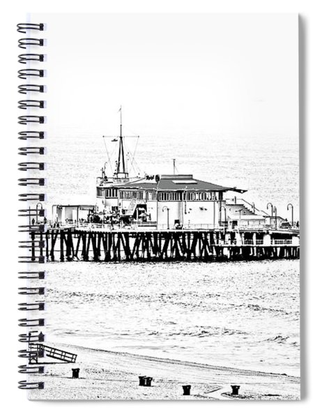 Santa Monica Pier  Bandw Spiral Notebook