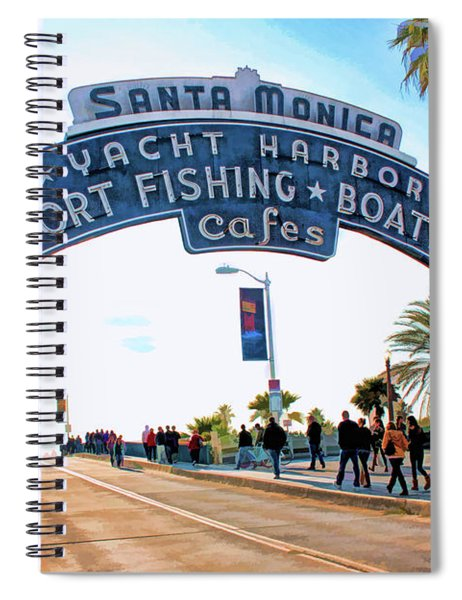 Santa Monica Pier Sign Spiral Notebook