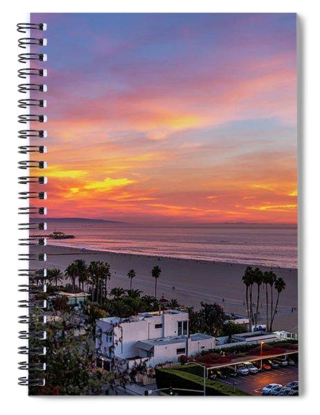 Santa Monica Pier Sunset - 11.1.18  Spiral Notebook