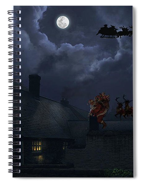 Santas Spiral Notebook
