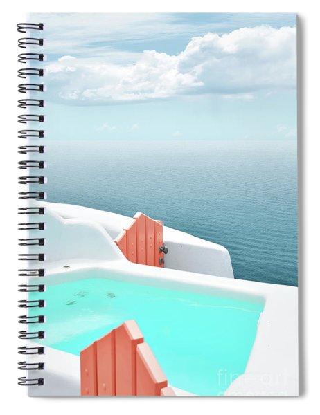 Santorini Pool Spiral Notebook