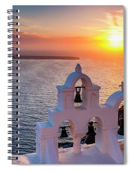 Santorini Sunset Spiral Notebook