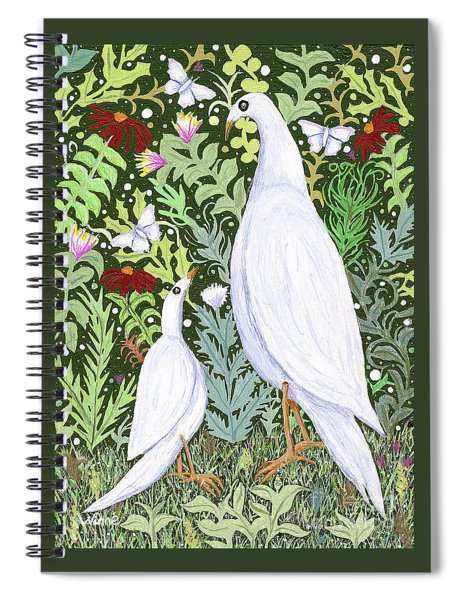 Sapientes Pacis Birds Spiral Notebook