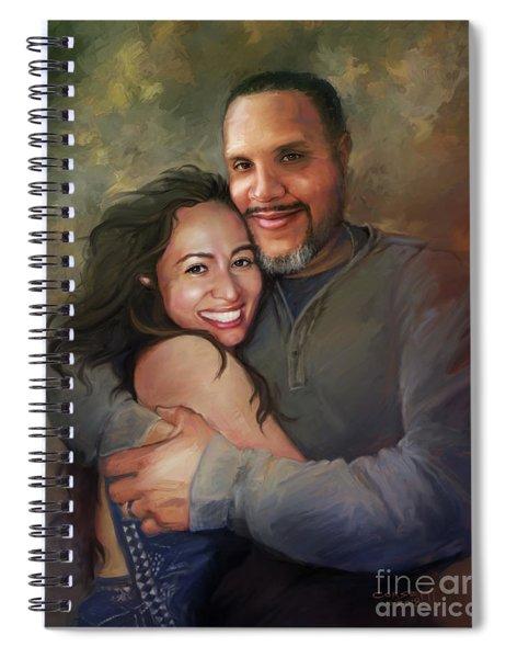 Sara And Ahmed Spiral Notebook
