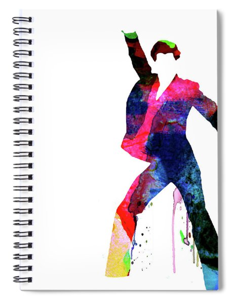 Saturday Night Fever Watercolor Spiral Notebook