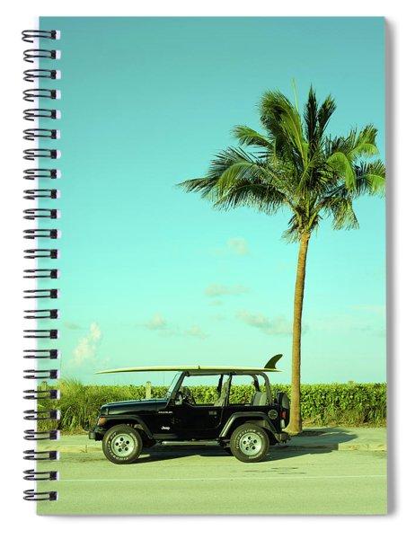Saturday Surfer Jeep Spiral Notebook
