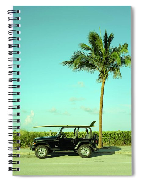 Saturday Surfer Jeep Spiral Notebook