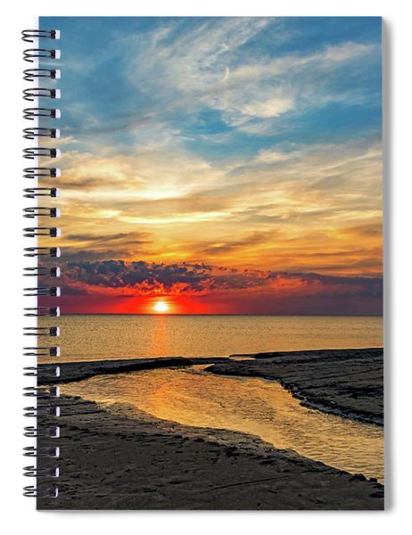 Sauble Beach Sunset - Evening Ritual Spiral Notebook