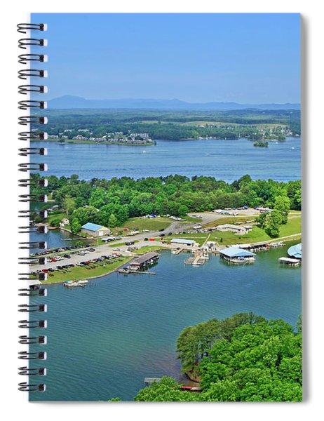 Saunders Marina, Smith Mountain Lake, Va. Spiral Notebook