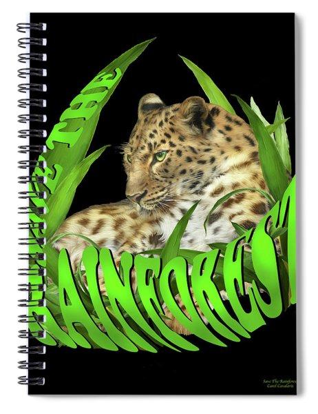 Save The Rainforest Spiral Notebook