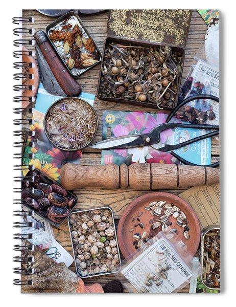 Saved Flower Seeds Spiral Notebook