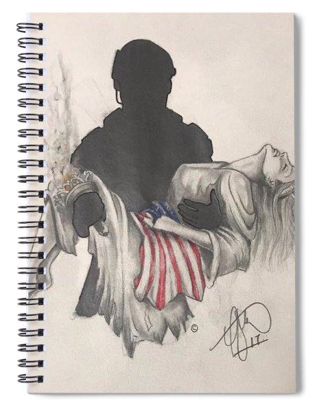 Saving Liberty Spiral Notebook