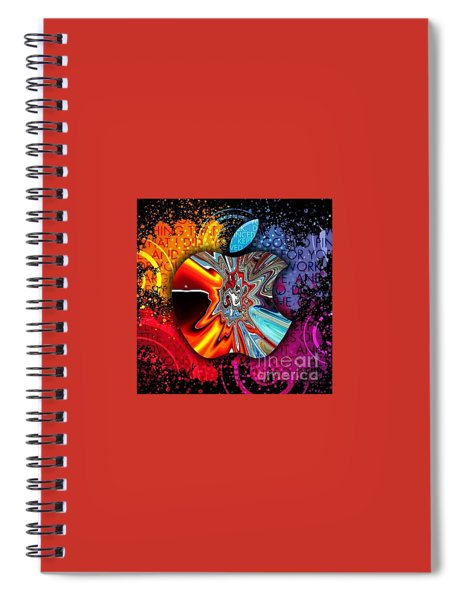 Spiral Notebook featuring the digital art Say Some Thing  by A z Mami