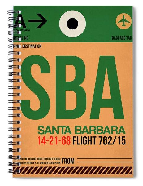 Sba Santa Barbara Luggage Tag I Spiral Notebook