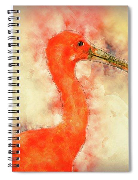 Scarlet Ibis Spiral Notebook