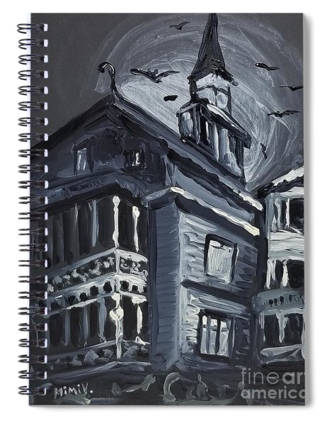 Scary Old House Spiral Notebook