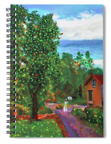 Scene From Giverny Spiral Notebook