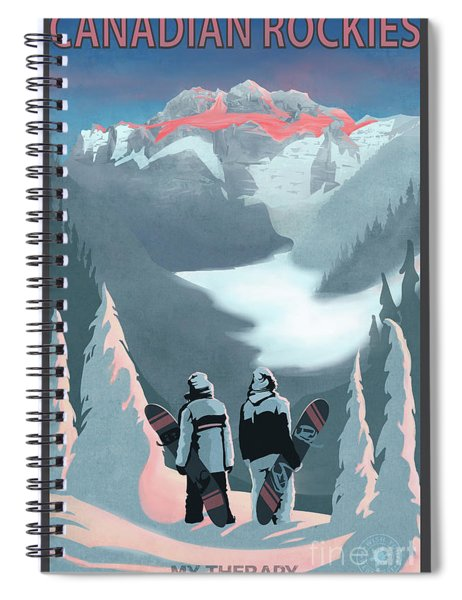 Scenic Vista Snowboarders Spiral Notebook