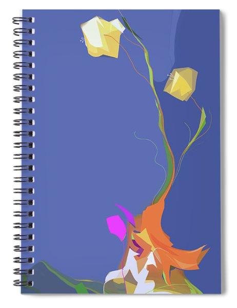 Spiral Notebook featuring the digital art Scherzo by Gina Harrison