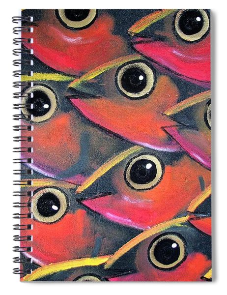 School Of Eyes Spiral Notebook