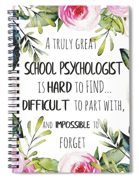 School Psychologist Thank You Note Spiral Notebook