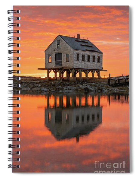 Scorched Symmetry Spiral Notebook