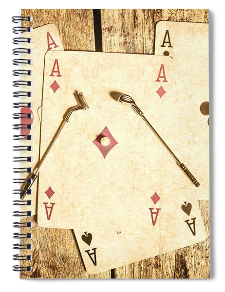 Scorecard Of Aces Spiral Notebook