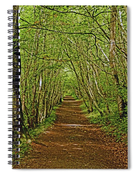 Scotland. Killiecrankie. Path Through The Trees. Spiral Notebook