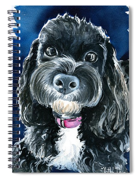 Scout - Cavoodle Dog Painting Spiral Notebook