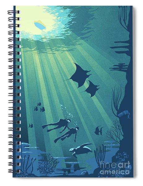 Scuba Dive Spiral Notebook