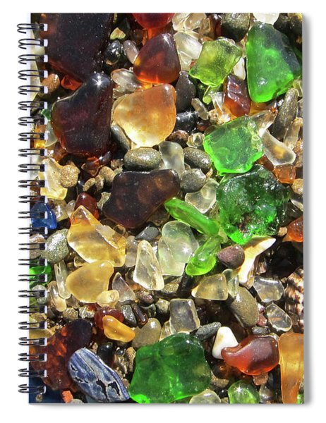 Sea Glass Spiral Notebook