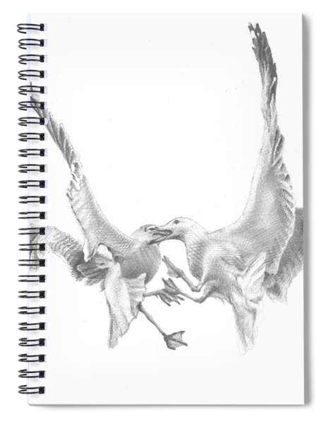 Sea-gulls Spiral Notebook