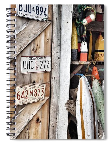 Sea Shack Plates And Buoys Spiral Notebook
